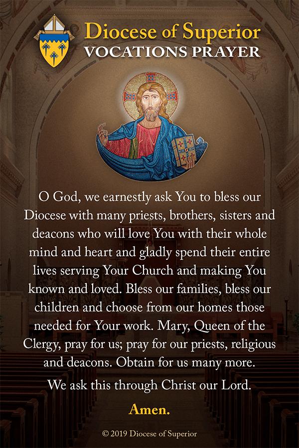 DOS Vocations Prayer Card 2019