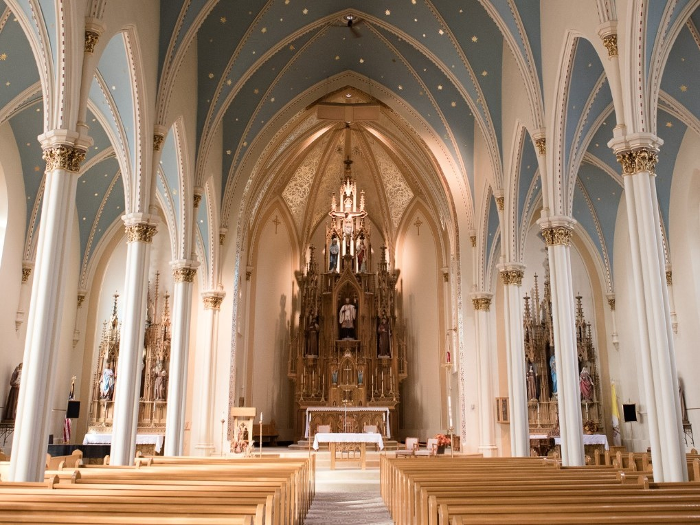 Interior of St. Francis Xavier in Superior, WI